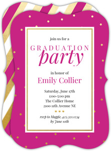 Graduation invitations graduation party invitations faux gold dots graduation invites filmwisefo