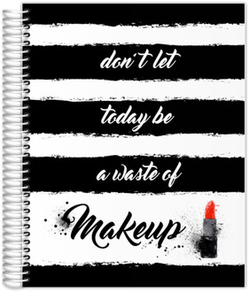 Black and White Makeup Teacher Planner