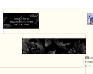 Modern Dark Foliage Address Label