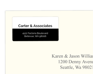Simple Black and White Modern Address Label