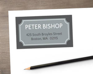 Grey Frame Address Label
