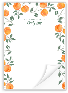 Watercolor Peach Notepad