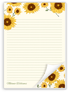 Decorative Sunflower Notepad