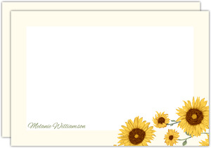 Decorative Sunflower Notecard