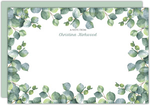 Greenery Watercolor Foliage Notecard