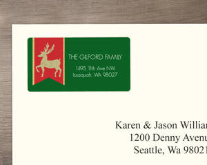 Glitter Reindeer Address Label