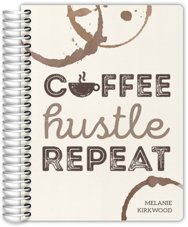 Coffee Hustle Repeat Teacher Planner