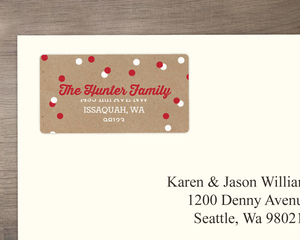 Kraft Holiday Polka Dot Address Label