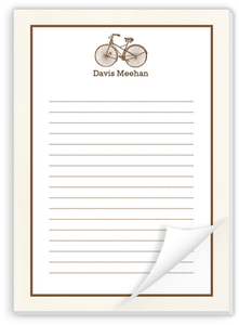 Vintage Bicycle Notepad
