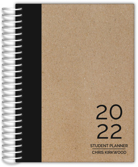 Traditional Black and Kraft Student Planner