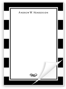 Classic Striped Border Notepad