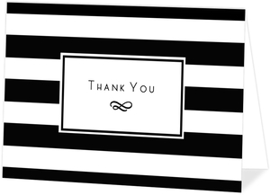 Classic Striped Border Thank You Card