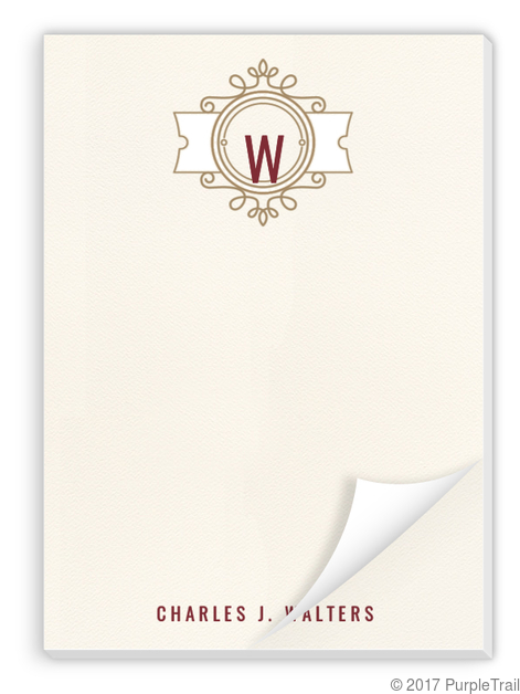 Modern Crest Notepad | Personalized Notepads