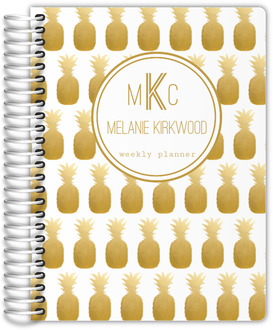 Faux Gold Foil Pineapple Mom Planner