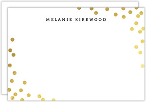 Golden Faux Foil Confetti Notecard