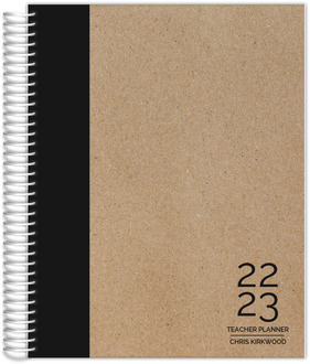 Traditional Black and Kraft Teacher Planner