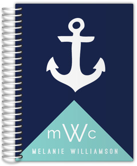Modern Nautical Anchor Monthly Planner