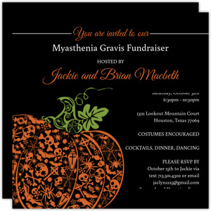 Fancy Pumpkin  Halloween Party Invite