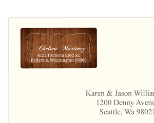 Brown Country Chic Address Label