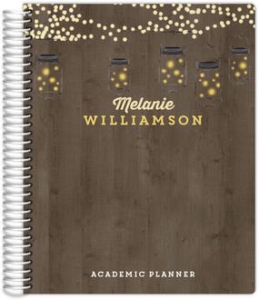 Rustic String Lights Student Planner