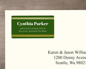 Tropical Greenery Watercolor Address Label