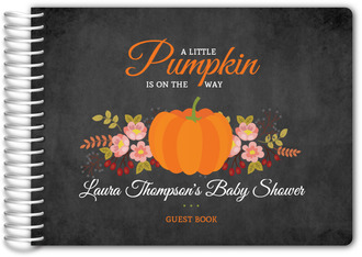 Autumn Floral Baby Shower Guest Book