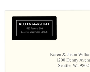 Elegant Black Monogram  Address Label
