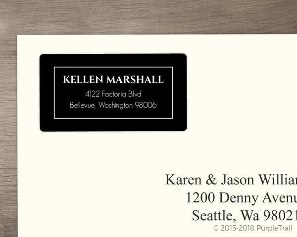 elegant black monogram address label address labels
