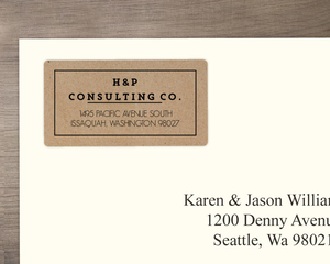 Simple Faux Kraft Texture Address Label