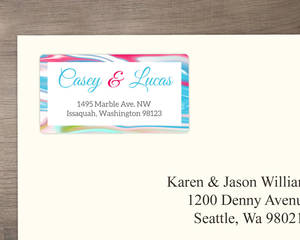 Pink Modern Romance  Address Label
