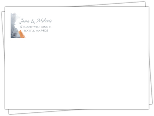 Modern Grey Watercolor Address Label