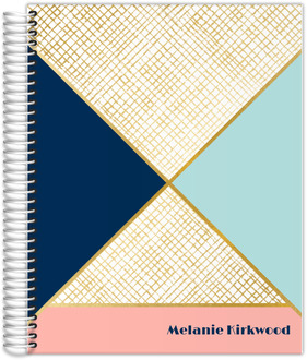 Gold Geometric Pattern Teacher Planner