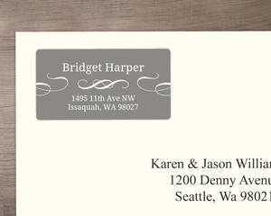 Simple Gray and White Address Labels