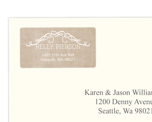 Whimsy Frame Kraft Address Label