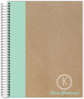 Minty Chevron Teacher Planner
