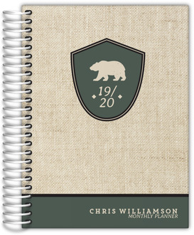 Bear Crest Monthly Planner