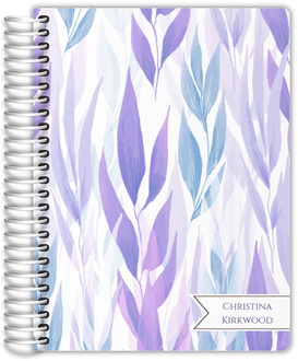 Lavender Leaves Pattern Daily Planner