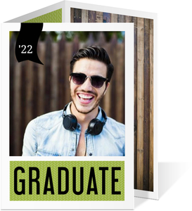 Graduation Invitation Green Color Blocks