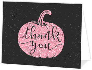 Pink Pumpkin Thank You Card