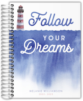 Lighthouse Follow Your Dreams Daily Planner