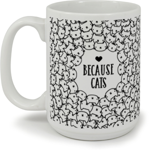 Cute Whimsical Cats Pattern Coffee Mug
