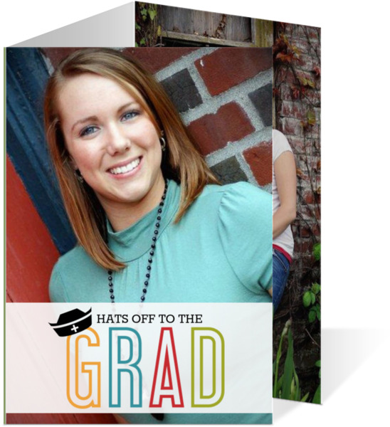 Colorful Nursing Hat Nursing School Graduation Invitation