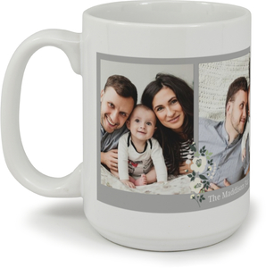 Simple Gray Border Collage Custom Mug