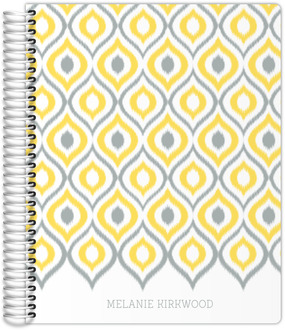 Yellow and Gray Ikat Student Planner
