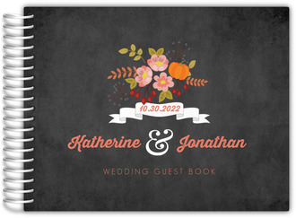 Autumn Floral Wedding Guest Book