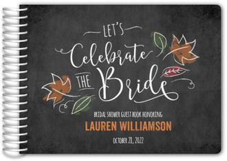 chalk celebrate fall bridal shower guest book