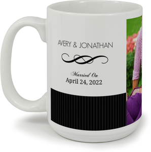 Black And White Elegant Swirl  Custom Mug