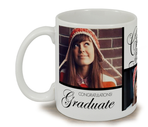 Gold and Black Photo Graduation Mug