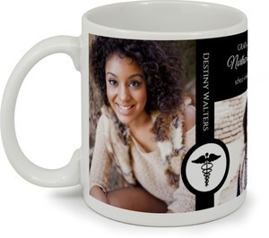Black and White Elegant Nursing Coffee Mug