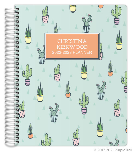 Cactus Pattern Mom Planner